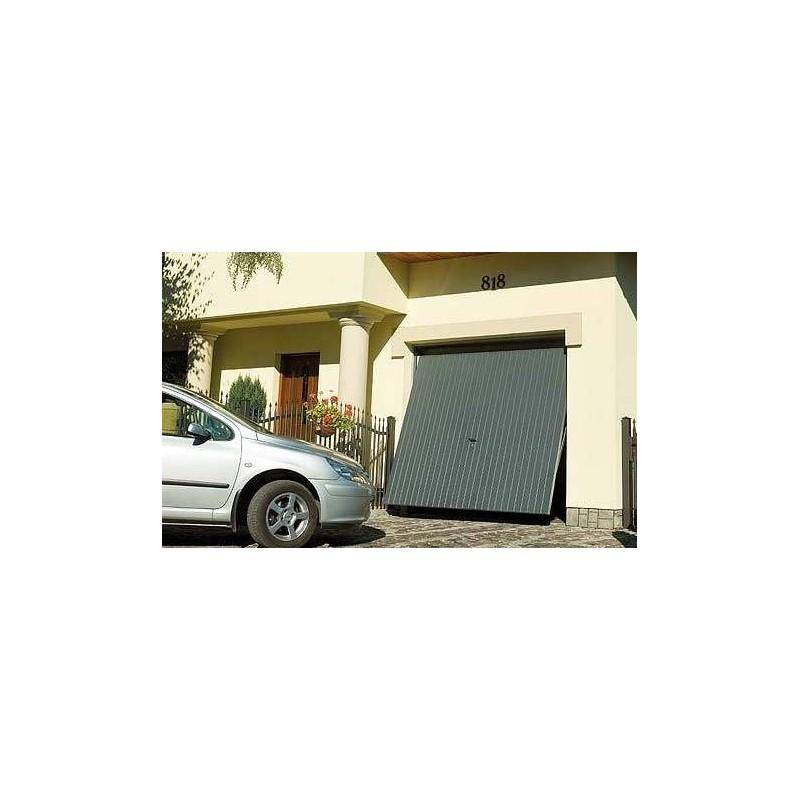 Wiśniowski, brama uchylna, panel pionowy, ral7016